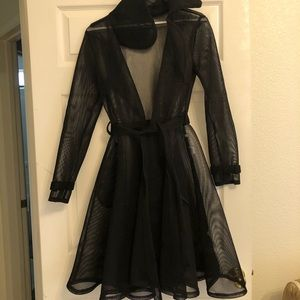 See through Trench Coat